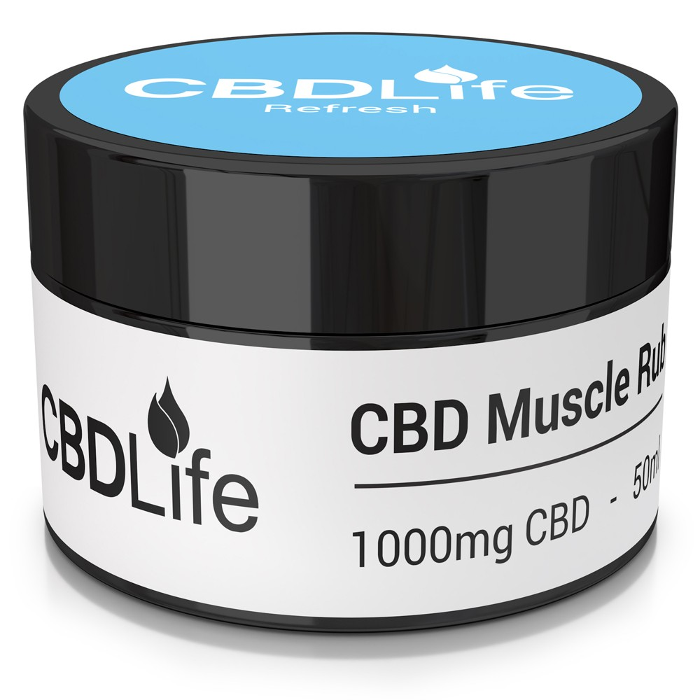 CBD Life 1000mg CBD Balm with Peppermint & Eucalyptus