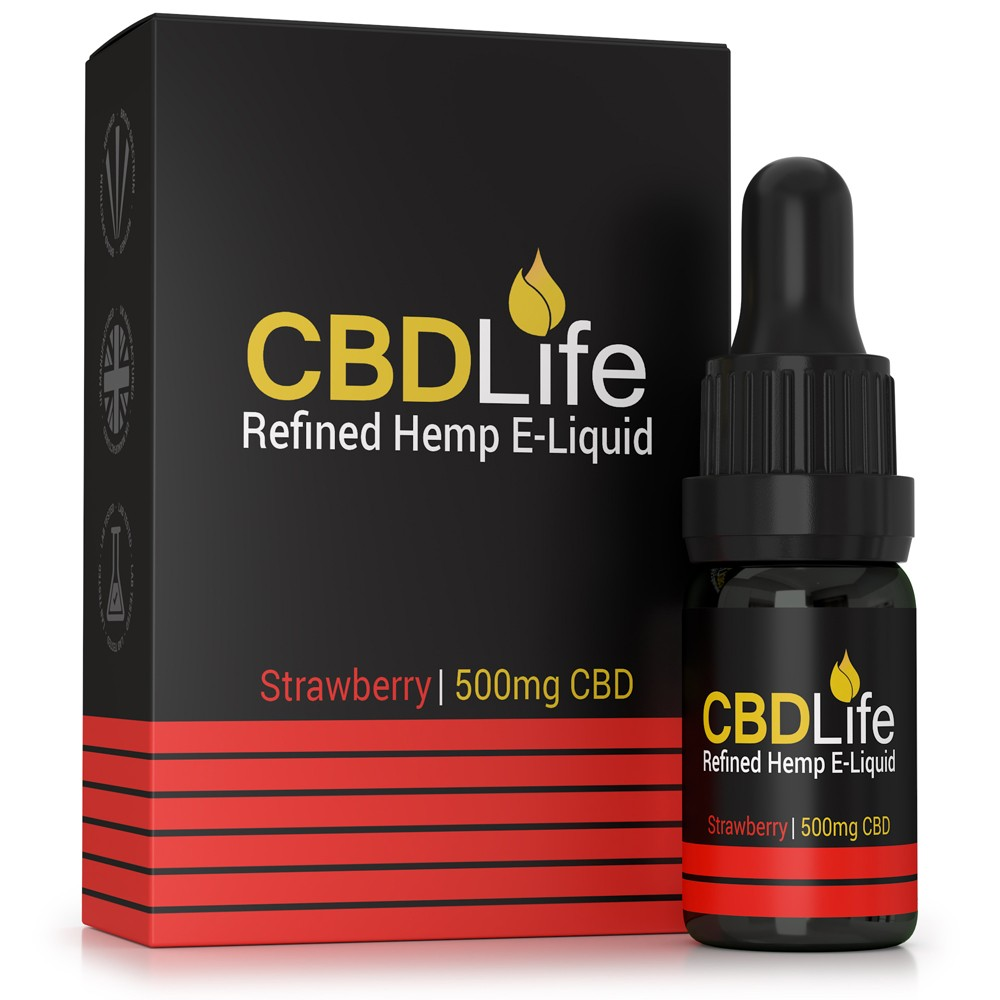 CBD Life Broad Spectrum 500mg CBD e-Liquid (Strawberry)