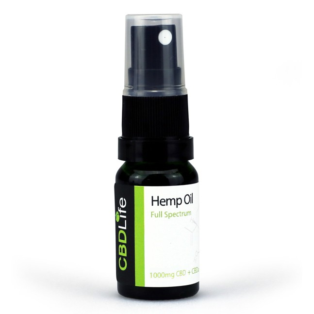 CBD Life Full Spectrum 10% Hemp Oil Spray (Lemon) - Bottle